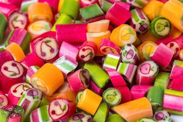 Os doces de geléia colorida