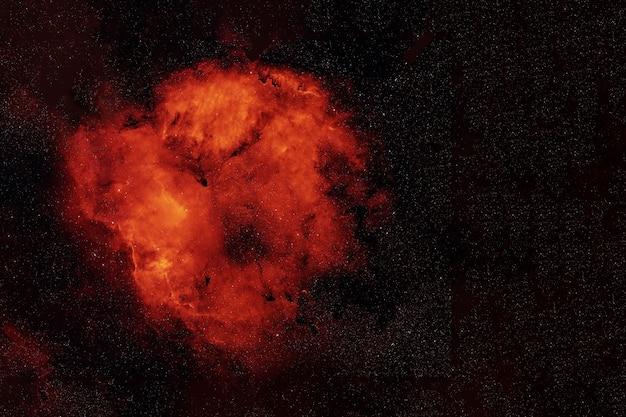 Os elementos da galáxia vermelha no espaço profundo desta imagem foram fornecidos pela nasa