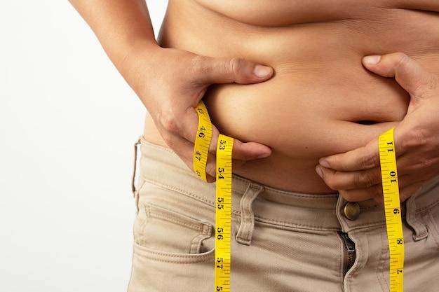 Os homens estão estressados com a obesidade, a causa do diabetes e da hipertensão.