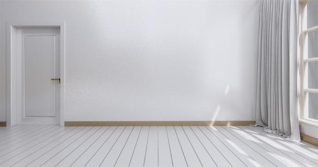 Os interiores brilhantes modernos esvaziam o quarto.