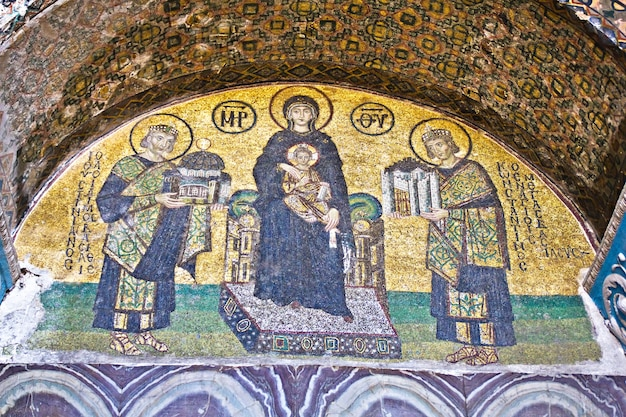Os mosaicos comnenus, hagia sophia, istambul