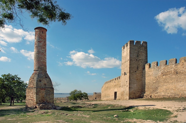 Os restos da fortaleza akkerman