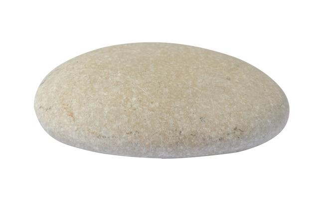 Os seixos do mar são isolados em um fundo branco. pedra natural. foto de alta qualidade