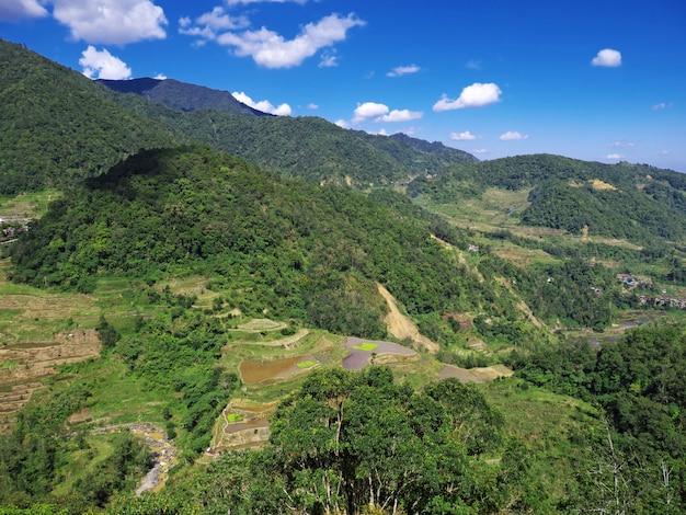 Os terraços de arroz em banaue, filipinas