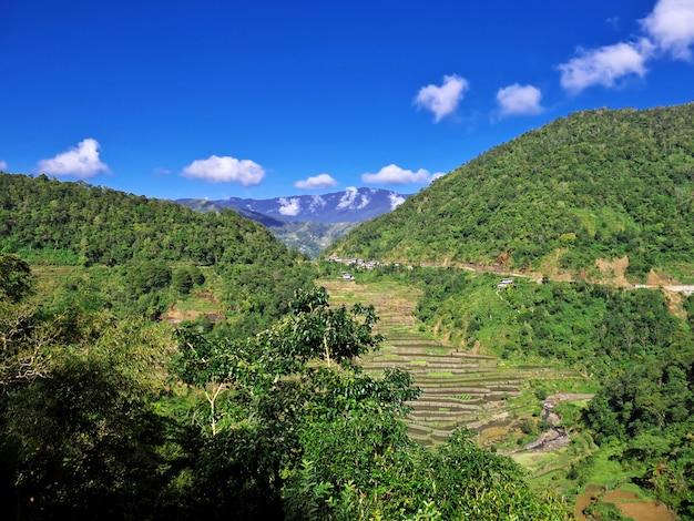 Os terraços de arroz em bangaan, filipinas