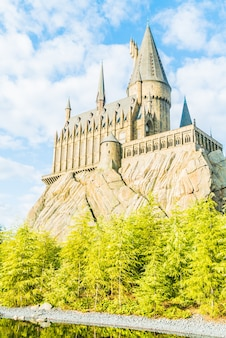 Osaka, japão - 01 de dezembro de 2015: escola hogwarts de bruxaria