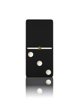 Osso de jogo de dominó fechar isolado