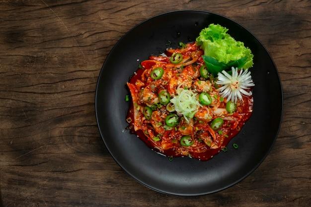 Ostras freash salad gulmuchim tempero coreano food style