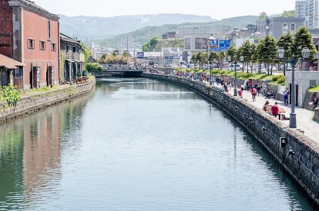 Otaru canal era uma parte central do movimentado porto da cidade na primeira metade do século 20