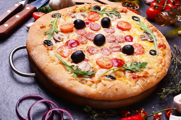 Ótima pizza italiana