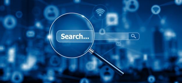 Otimização de mecanismos de pesquisa e análise da web rede de informações de dados da internet