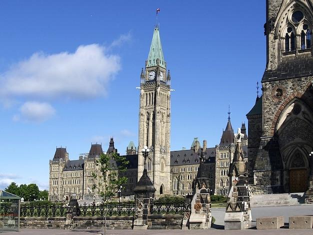 Ottawa canada torre edifício do parlamento paz