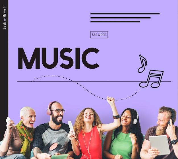 Ouça música, divirta-se, melodia e harmonia