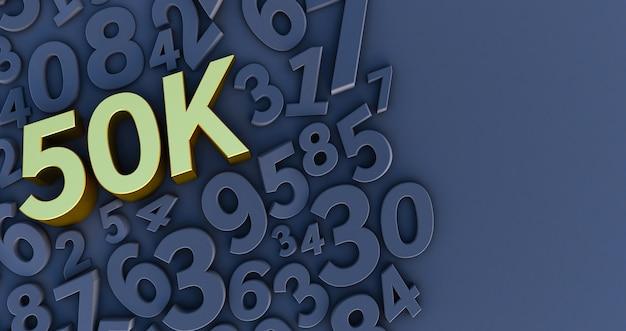 Ouro 50k, 50000 em números pretos.