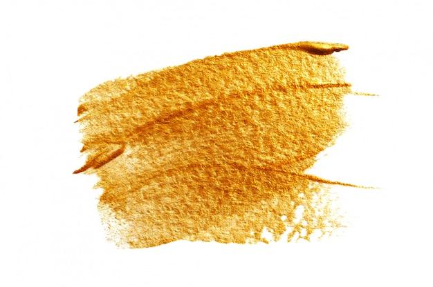 Ouro abstrato com pincel de tinta acrílica