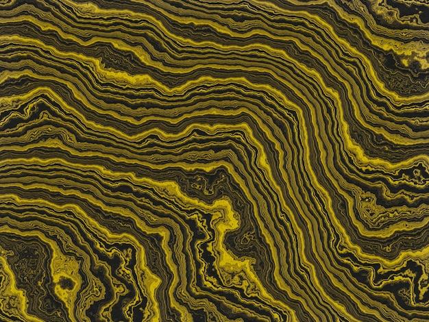 Ouro abstrato e fundo preto