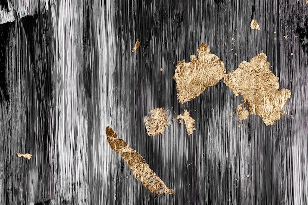 Ouro em papel de parede de fundo preto, arte abstrata