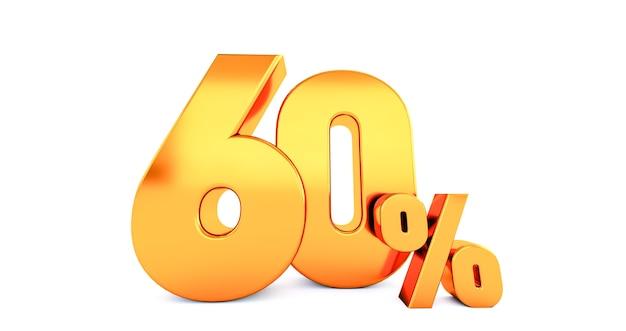 Ouro sessenta 60 por cento