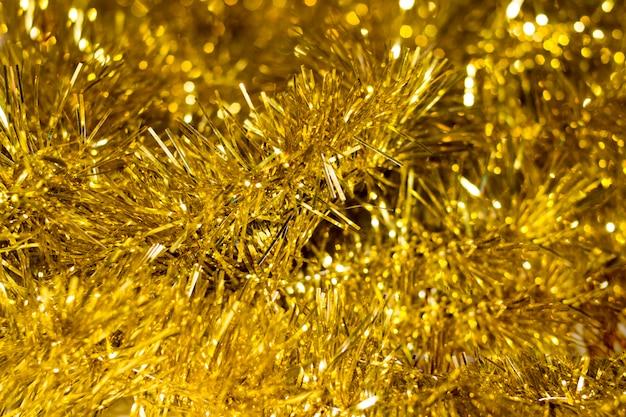Ouropel decorativo dourado