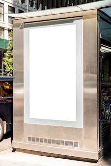 Outdoor de mock-up no ponto de ônibus