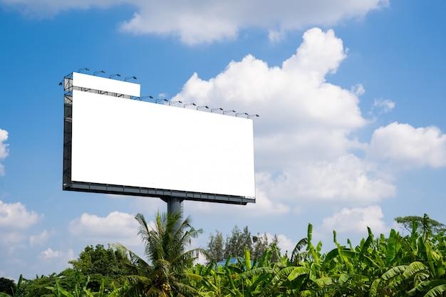 Outdoor em branco para novo anúncio