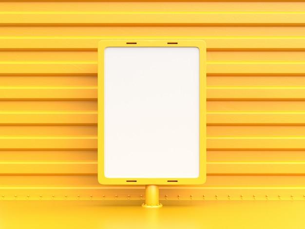 Outdoor para publicidade de cor amarela.