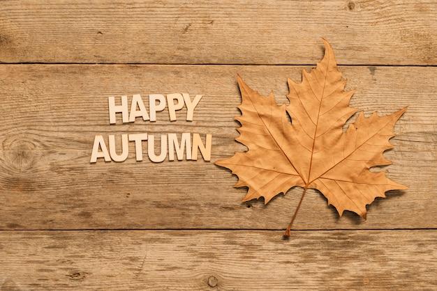 Outono composição com folha