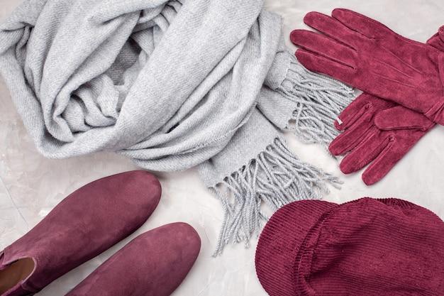 Outono confortável, roupas de inverno