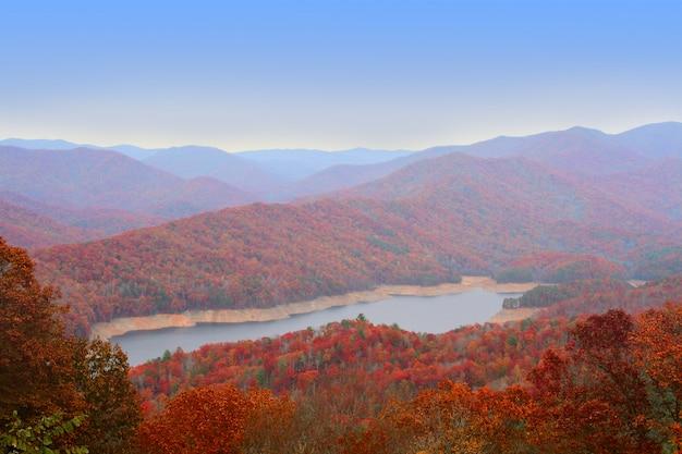 Outono em great smoky mountains