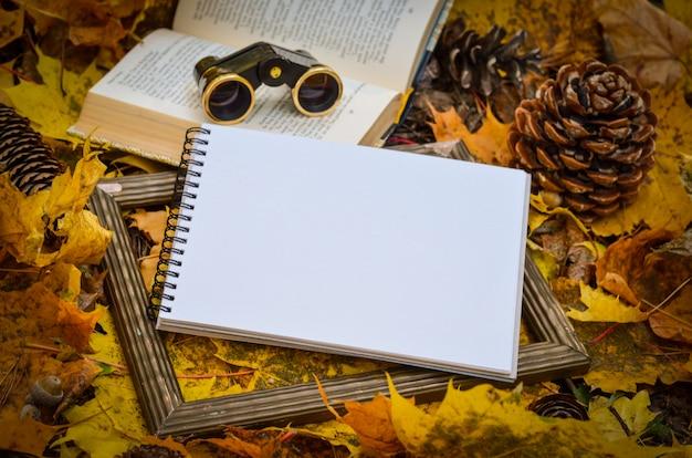 Outono folhas amarelas, espaço de fundo para o texto