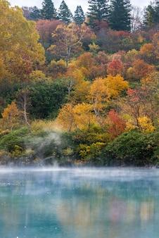 Outono onsen lago aomori japão