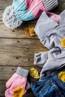 Outono roupas quentes para menina