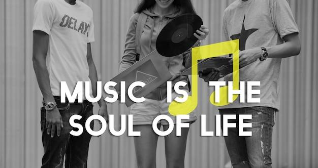 Ouvir música entreter melodia harmonia