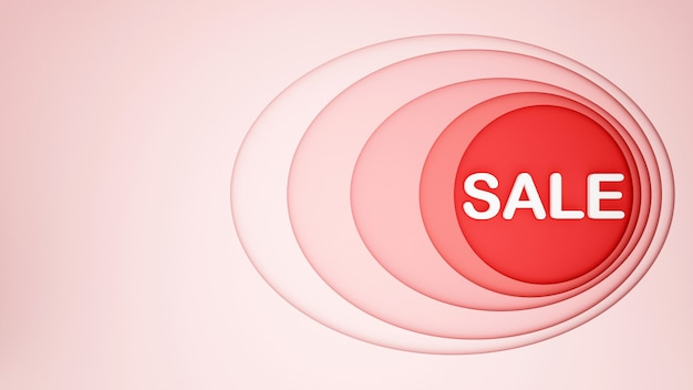 Oval rosa com um círculo vermelho para fundo de obras de arte