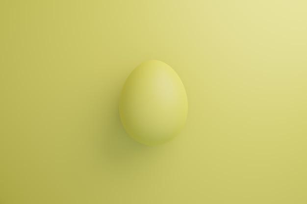 Ovo amarelo em um fundo amarelo ilustração do conceito de férias em cores da moda