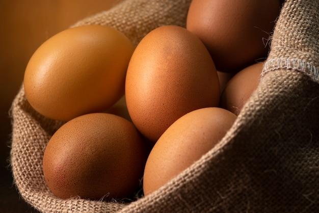 Ovo de galinha branca, ao vivo