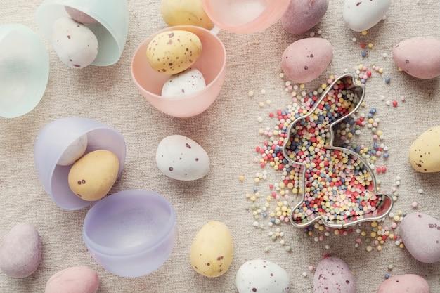 Ovo de páscoa e coelho para crianças