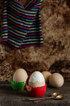 Ovos cozidos frescos