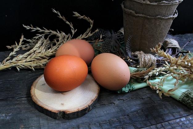 Ovos de codorna páscoa rústica