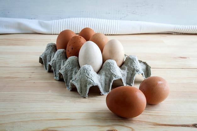 Ovos de diferentes tipos