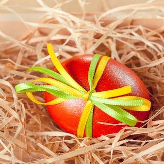 Ovos de páscoa com fita