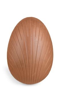 Ovos de páscoa de chocolate no fundo