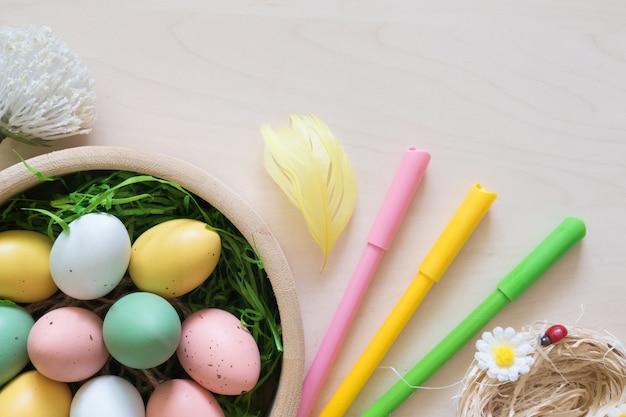 Ovos de páscoa e outras decorações