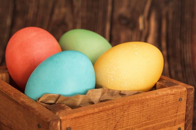 Ovos de páscoa em cor pastel
