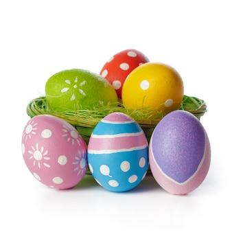 Ovos de páscoa, isolados no branco