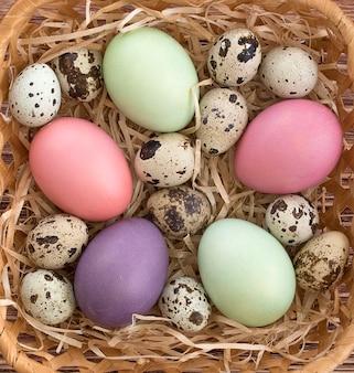 Ovos de páscoa multicoloridos