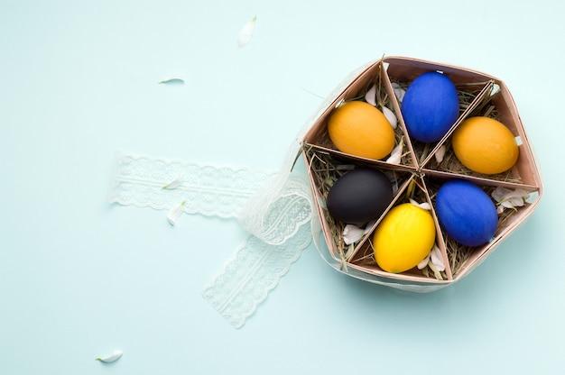 Ovos de páscoa pintados