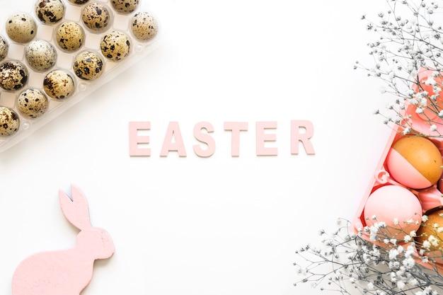 Ovos e decorações para a páscoa