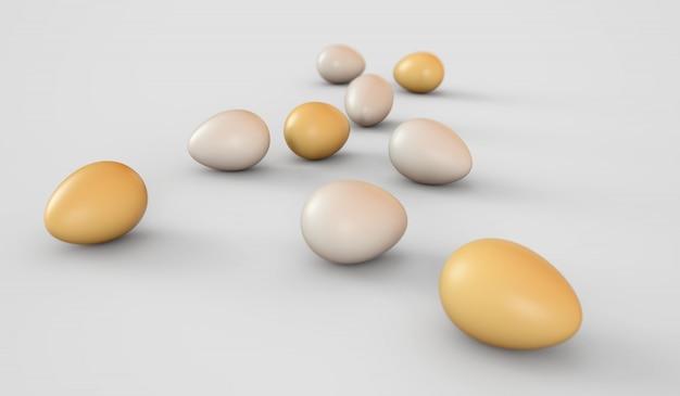 Ovos em um fundo branco