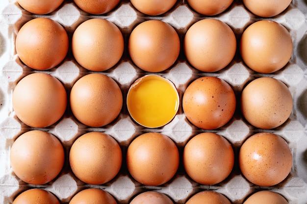 Ovos na caixa da caixa